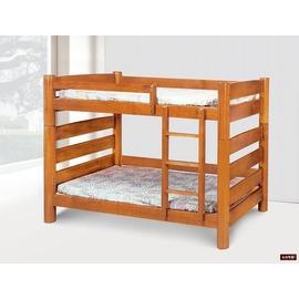 ~台北家福~ FP199~2 柚木色實木5尺圓柱雙層床傢俱