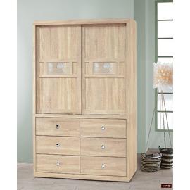 ~台北家福~^(FP214~6^)花月白橡拉門4^~7尺衣櫥 衣櫃傢俱