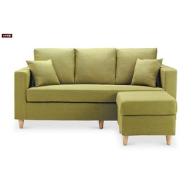 ~台北家福~^(FP337~7^)艾斯卡蘋果綠L型沙發傢俱