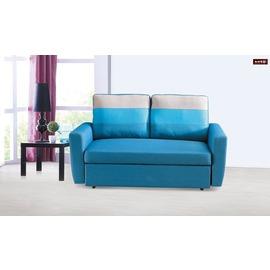 ~台北家福~^(FP351~1^)H30^#藍色布雙人沙發床傢俱