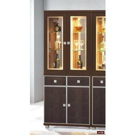 ~台北家福~^(FP504~11^)胡桃2.6尺雙門雙面櫃傢俱