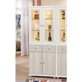 ~台北家福~^(FP504~5^)白色2.6尺雙門雙面櫃傢俱