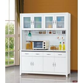 ~台北家福~^(FP702~1^)艾朵拉白色5尺碗碟櫃^(全組^)傢俱