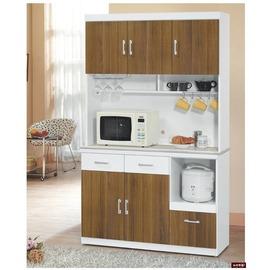 ~台北家福~^(FP707~4^)卡地亞白色4尺碗盤櫃全組傢俱