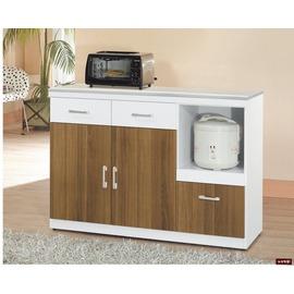 ~台北家福~^(FP707~5^)卡地亞白色4尺碗盤櫃傢俱