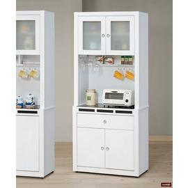 ~台北家福~ FP709~1 貝多美白色3尺碗櫥櫃 全組 傢俱