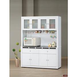 ~台北家福~ FP709~3 貝多美白色5尺碗櫥櫃 全組 傢俱