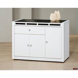 ~台北家福~^(FP709~5^)貝多美白色4尺碗櫥櫃^(下座^)傢俱