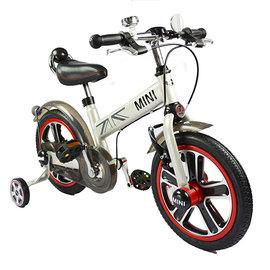 【電話訂購現折/單台5600含運】『CK06-8』英國原廠授權Mini Cooper 兒童腳踏車14吋(白)【贈純植物精油防蚊液 60ml】