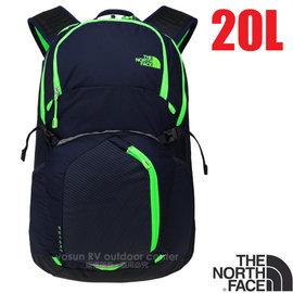 【美國 The North Face】新款 輕量多功能背包20L.15吋電腦背包.雙肩背包.後背包.休閒背包.書包/CLG6 宇宙藍/薄荷綠