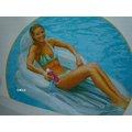 玩樂 美國INTEX 58857 透明靠背沙發充氣浮排 充氣墊 水上浮床 夏天玩水 游泳