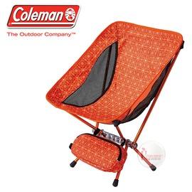 探險家戶外用品㊣CM-26740 美國Coleman LEAF隨行椅/杏黃 超輕鋁合金折疊月亮椅 摺疊椅 休閒椅 折疊椅 折合椅