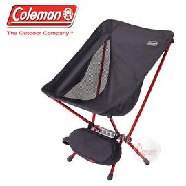 探險家戶外用品㊣CM-27855 美國Coleman LEAF隨行椅/黑 超輕鋁合金折疊月亮椅 摺疊椅 休閒椅 折疊椅 折合椅