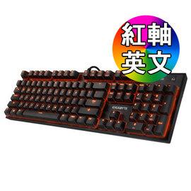 ^~硬派精璽^~ Gigabyte 技嘉 FORCE K85 RGB背光機械式鍵盤^ 紅軸
