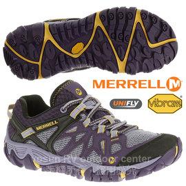 【美國 MERRELL】女 ALL OUT BLAZE AERO SPORT 水陸兩用運動鞋/輕量.適健走.溯溪.慢跑.Vibram大底_紫 J65036