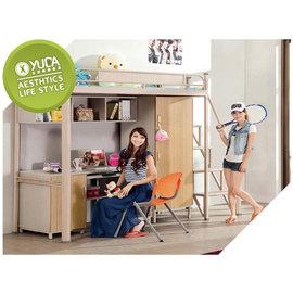 ~YUDA~學生專案 單人房間組 3尺 多 挑高床組 床架組 床底組 書桌 衣櫃 床架 J