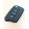VW 福斯 GOLF 7 鑰匙套 果凍套 矽膠套 保護包 黑底紅線 蜂巢