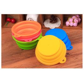 寵物用品 寵物狗狗外出折疊水碗折疊食盆折疊碗