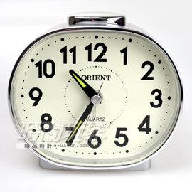 ORIENT 東方錶 簡約電子音數字鬧鈴 鬧鐘 AQ237銀