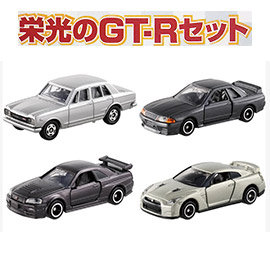 ~TOMICA~多美小汽車 榮光的GT~R 光榮的GTR ^(4入^) 4台套組 TAKA