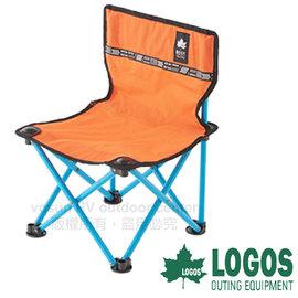 【日本 LOGOS】ROSY 野營椅/童軍椅.導演椅.折疊椅.摺疊椅.折合椅/新式收納束帶設計.開合收納迅速_橘 73170043
