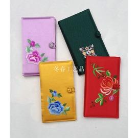 純 繡花 蘇繡成品錢包 蘇州特色出國 刺繡卡包 名片夾