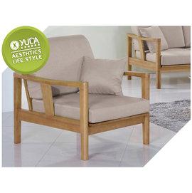 沙發~YUDA~奧斯汀 硬質楊木 單人 沙發 沙發椅 ^(附1個抱枕 坐墊^) J6F 1