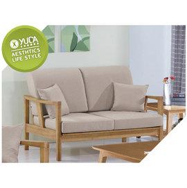 沙發~YUDA~奧斯汀 硬質楊木 雙人 二人 沙發 沙發椅 ^(附2個抱枕 坐墊^) J6
