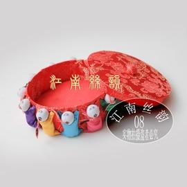 12小孩繡花針線盒針插針扎收納盒中國特色出國 出國外事小