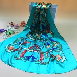 真絲絲巾女士圍巾職業春秋 超大高檔桑蠶絲巾大方巾