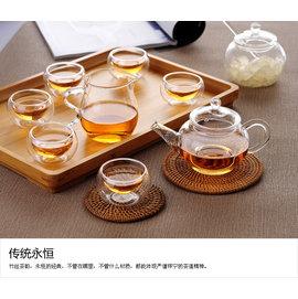 六人泡茶壺 玻璃花茶茶壺 玻璃壺  耐熱玻璃茶具 容量250ml 自在坊