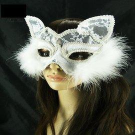 ~塔克~貓臉 貓女性感 貓面罩 蕾絲 面具 眼罩 面罩 cosplay 表演 舞會 派對