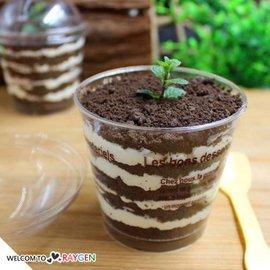 DIY提拉米蘇木糖杯蛋糕甜品透明杯 蓋子+勺子【HH婦幼館】