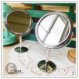 【Q禮品】A2901 雙面立式化妝鏡/雙面 放大/旋轉/梳妝台/鏡子/雙面鏡/圓鏡/立鏡/美妝用品