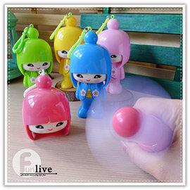 【Q禮品】B2899 日本娃娃大頭風扇/電動風扇/環保風扇/安全軟葉風扇/手拿扇/隨身 攜帶型/小風扇