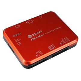 7插槽可讀取數種記憶卡、晶片卡及SIM卡~