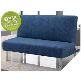 沙發床~YUDA ~歌蒙 藍色 布面 三段式 多 沙發床 床尾沙發 ^(J6F 202~1