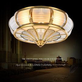 5Cgo~ 七天交貨~ 520079721077 歐式全銅吸頂燈美式客廳純銅燈餐廳臥室陽臺