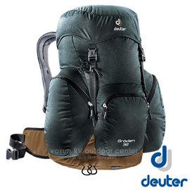 【德國 Deuter】GRODEN 32 網架直立式透氣背包32L.登山健行背包.自助旅行背包.旅行背包/Aircomfort 透氣網架背負系統/3430316 灰/咖啡