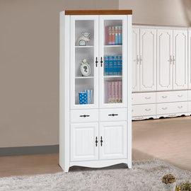 ~ 屋~^~UZ6^~泰豐白色2.7尺中抽書櫃UZ6~263~6免 免組裝 書櫃 抽屜櫃