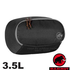 【瑞士 MAMMUT 長毛象】Add-on Pocket 3.5L 防潑水多功能增加外袋( 附腰帶_可當腰包)外掛背包.登山旅行.適合Osprey Deuter 00080-0001 黑