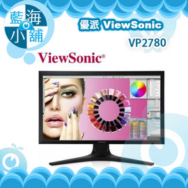 ViewSonic 優派 VP2780~4K 27吋 4K IPS寬螢幕零閃屏抗藍光 電腦