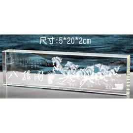 ~ 御金品 ~ 金箔生財藝品 金箔獎牌 水晶 琉璃獎座 壓紋金箔 CRY 016 尺寸:5