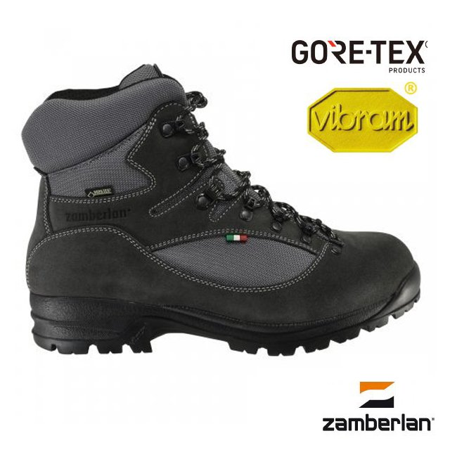 【Zamberlan 義大利】熱銷新款 SHERPA PRO Gore Tex 高筒專業登山鞋(Vibram黃金鞋底_非環保鞋底)/防水透氣/超耐用 耐磨/灰黑 0549PM9G-0G
