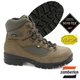 【Zamberlan 義大利】熱銷新款 SHERPA PRO Gore Tex 高筒專業登山鞋(Vibram黃金鞋底_非環保鞋底)/防水透氣/超耐用 耐磨/卡其 0549PM9G-0K