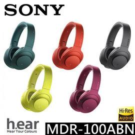 展示 !紅、黑 !Sony MDR-100ABN h.ear 無線藍芽降噪耳罩式耳機 ☆2