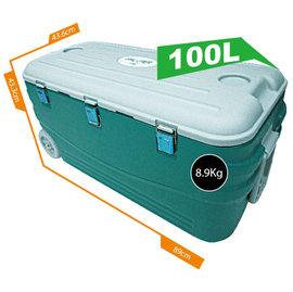 ◎百有釣具◎COOL LINER 保冷王 暢銷款 行動冰箱 100公升(100L) 附輪 外銷日本優良產品