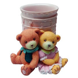 泰迪熊~情侶熊筆筒 R1016