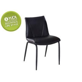 餐椅~YUDA~ 安卓 黑色 皮餐椅 休閒椅 書桌椅 J6F 482~10