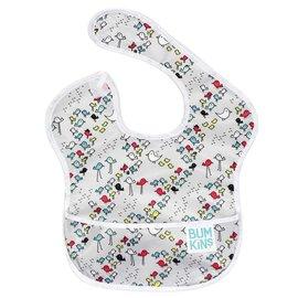 【紫貝殼】『SU06-9』2016年最新 美國Bumkins防水兒童圍兜(一般無袖款6個月~2歲適用)-小亭子 BKS-204【保證公司貨】